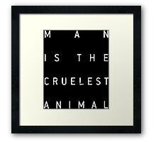 Man Is The Cruelest Animal (True Detective) Framed Print