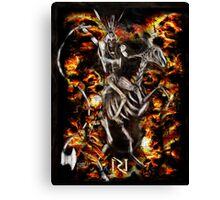 EXECUTIONER ! the kingside white knight  Canvas Print