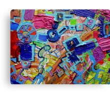 Excerpt 3 from Rube Goldberg Abstract Canvas Print
