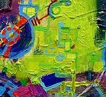 Excerpt 6 from Rube Goldberg Abstract by Regina Valluzzi