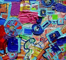 Excerpt 7 from Rube Goldberg Abstract by Regina Valluzzi