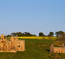 Sun Going Down Over Crichton Castle by Lynne Morris