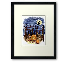 Witchy Halloween Framed Print