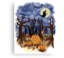 Witchy Halloween Canvas Print
