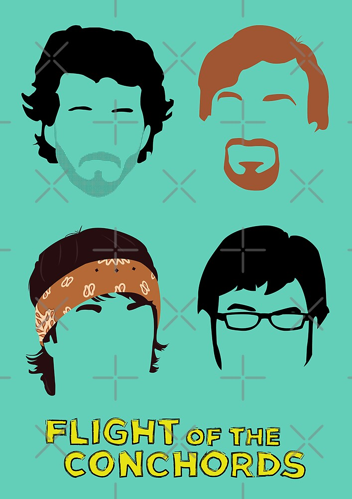 Flight of the Conchords: Silly-ettes by maclac