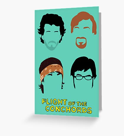 Flight of the Conchords: Silly-ettes Greeting Card