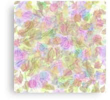 Soft Pastel Mixed Floral Abstract Canvas Print