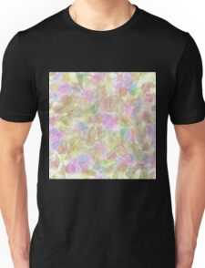Soft Pastel Mixed Floral Abstract Unisex T-Shirt