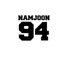 BTS Bangtan Boys Rap Monster Namjoon Football Design Black by impalecki