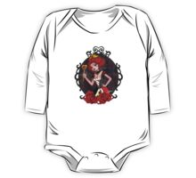 Queen of Hearts - Black Background One Piece - Long Sleeve