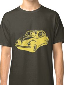 Classic VW Beetle Tee Yellow Ink Classic T-Shirt