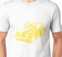 Classic VW Beetle Tee Yellow Ink Unisex T-Shirt