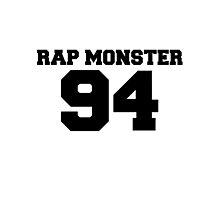 BTS Bangtan Boys Rap Monster Football Design Black by impalecki