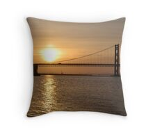 Sunset at Forth Bridge Throw Pillow