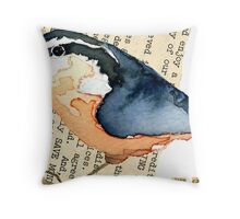 Red-Breasted Nuthatch (Sitta canadensis) Throw Pillow