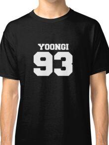 BTS Bangtan Boys Suga Yoongi Football Design White Classic T-Shirt