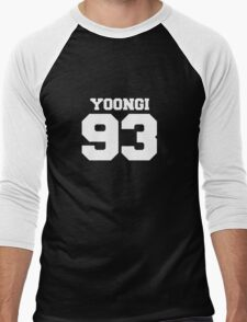 BTS Bangtan Boys Suga Yoongi Football Design White Men's Baseball ¾ T-Shirt