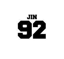 BTS Bangtan Boys Jin Football Design Black by impalecki