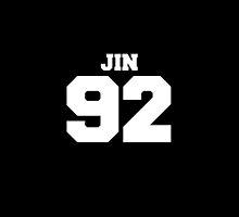 BTS Bangtan Boys Jin Football Design White by impalecki