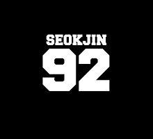 BTS Bangtan Boys Jin Seokjin Football Design White by impalecki