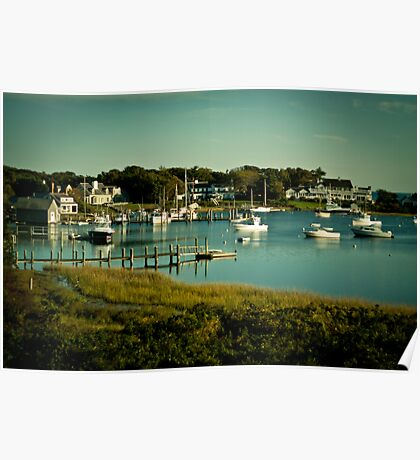 the boats at Whychmere Harbour Poster