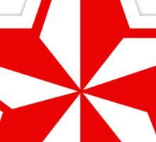 Nautical Star Sticker (red version) Sticker