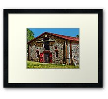 Jack London's Stable (barn? animal enclosure??) Framed Print
