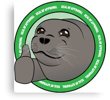 Seal Of Aproval Canvas Print