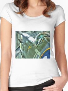 Spitfire  MH434 - OFMC`s Christmas Card 2011  Women's Fitted Scoop T-Shirt