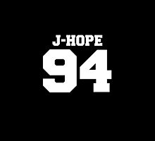 BTS Bangtan Boys Hoseok JHope Football Design White by impalecki