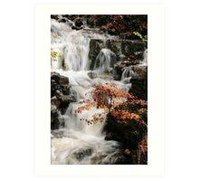 Waterfall in Clydach Gorge Art Print
