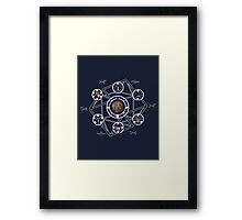 Remedial Chaos Theory Timeline Design Framed Print