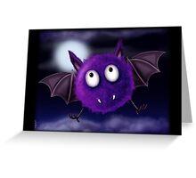 FLUFFBAT PURPLE BAT Greeting Card