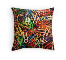 Got Paper Clips? Throw Pillow