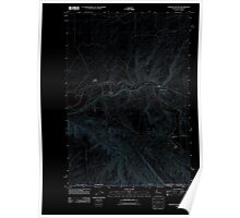 USGS Topo Map Washington Zangar Junction 20110914 TM Inverted Poster