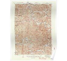 USGS Topo Map Oregon Roman Nose Mtn 282844 1945 62500 Poster