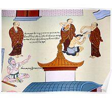 tibetan mural. clementown, india Poster