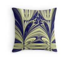 """Butterfly in the Tulips"" Throw Pillow"
