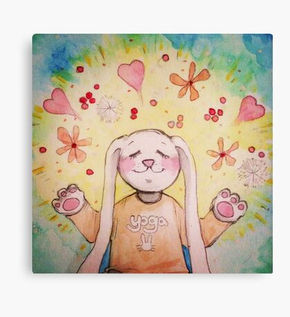 Yoga Bunny Canvas Print