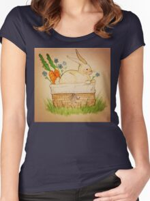 Spring Bunny Basket Women's Fitted Scoop T-Shirt