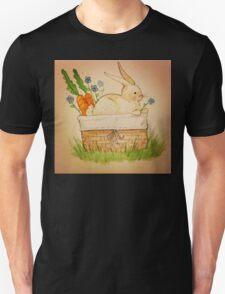 Spring Bunny Basket Unisex T-Shirt