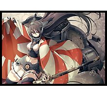 Nagato with rising Sun Flag Photographic Print