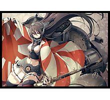 Nagato with rising Sun Flag Photographic Print