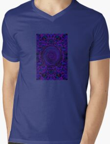 Psychedelic Twist Mens V-Neck T-Shirt