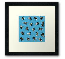 Garden Bumblebees Framed Print