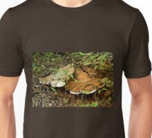 Turkey Tail Braacket Fungi With Spores Unisex T-Shirt