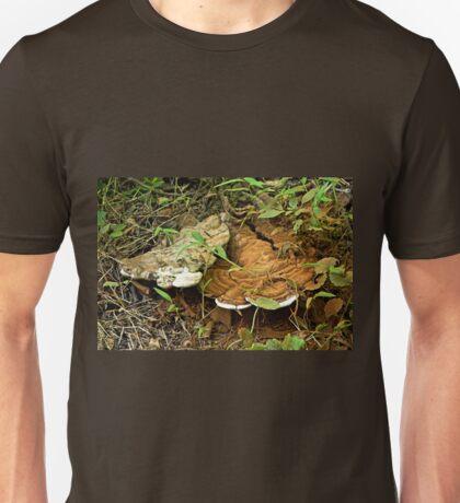 Turkey Tail Braacket Fungi With Spores Unisex T-Shirt