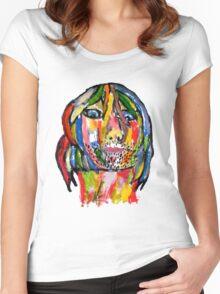 Kurt Cobain Women's Fitted Scoop T-Shirt