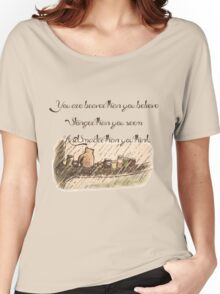 """""""You Are Braver Than You Believe"""" (version 1) Women's Relaxed Fit T-Shirt"""