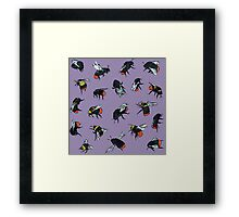 Red-Tailed Bumblebees Framed Print
